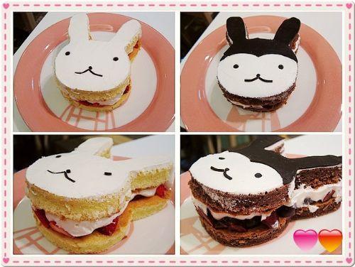 白兔妹水果蛋糕